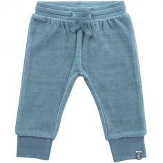 Pantalon Little Lion velours bleu (3-6 mois : 62 à 68 cm)