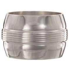Rond de serviette Filets personnalisable (métal argenté) dans son coffret
