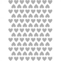 Stickers muraux coeurs argentés