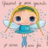 Tableau Quand je serai grande je serai une fée (100 x 100 cm) - Isabelle Kessedjian
