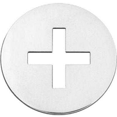 Mini bijou croix grecque sur cordon (or blanc 18 carats)  par Maison La Couronne