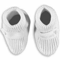 Chaussons de naissance blancs (taille unique)