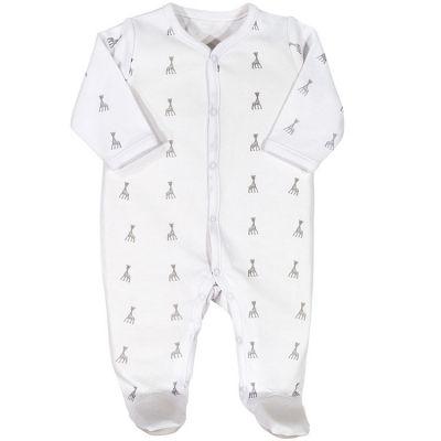 Pyjama léger blanc Sophie la girafe (1 mois)  par Trois Kilos Sept