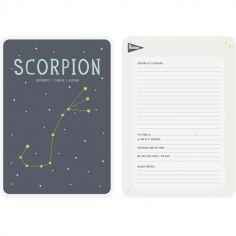 Affiche signe astrologique Scorpion (21,4 x 32,5 cm)