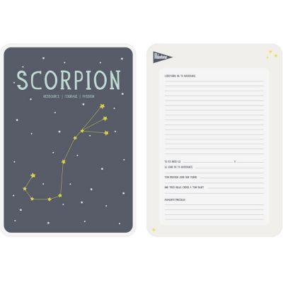 Affiche signe astrologique Scorpion (21,4 x 32,5 cm)  par Milestone