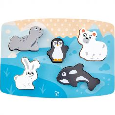 Puzzle à encastrement tactile animaux polaires (5 pièces)
