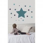 Sticker mural chambre étoile bleu - Art for Kids