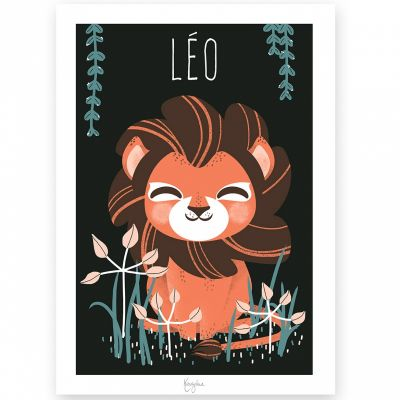 Carte A5 Les Animignons le lion (personnalisable)  par Kanzilue