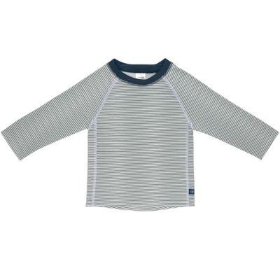Tee-shirt anti-UV manches longues rayé col marine (12 mois)  par Lässig