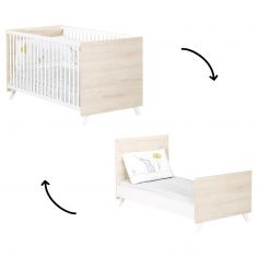 Lit bébé évolutif Little Big Bed Scandi naturel (70 x 140 cm)