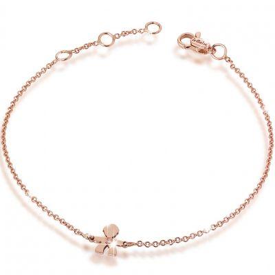 Bracelet sur chaîne Briciole garçon (or rose 750° et diamant)  par leBebé