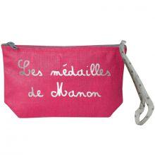 Pochette à bijoux rose (personnalisable)  par Les Griottes