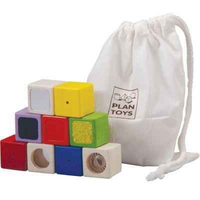 Blocs sensoriels (9 cubes)  par Plan Toys
