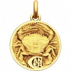 Médaille signe Cancer (or jaune 750°)