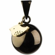 Bola noir avec oiseau doré