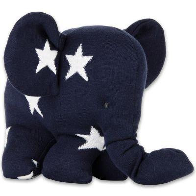 Peluche Eléphantou Star bleu marine et blanc (30 cm) Baby's Only