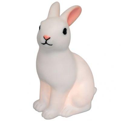 Veilleuse à piles lapin blanc (15 cm)  par REX