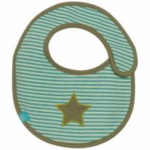Mini bavoir éponge à velcro Starlight olive  par Lässig