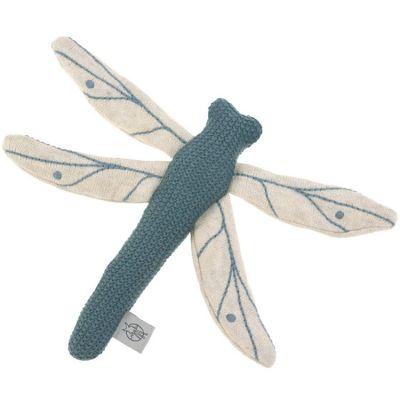 Hochet tricoté libellule bleue Garden Explorer (20 cm)  par Lässig
