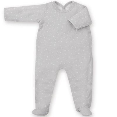 Pyjama léger jersey Stary frost grizou (1-3 mois : 50 à 60 cm)  par Bemini