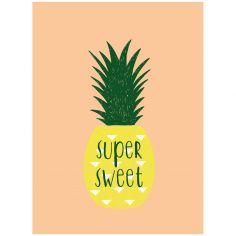 Affiche ananas Super sweet (30 x 40 cm)