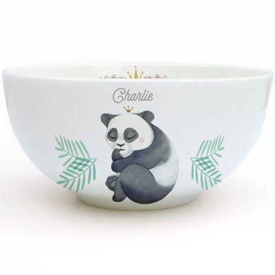 Bol en porcelaine Panda (personnalisable)  par Gaëlle Duval