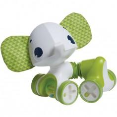 Jouet étirable à rouler éléphant vert Samuel