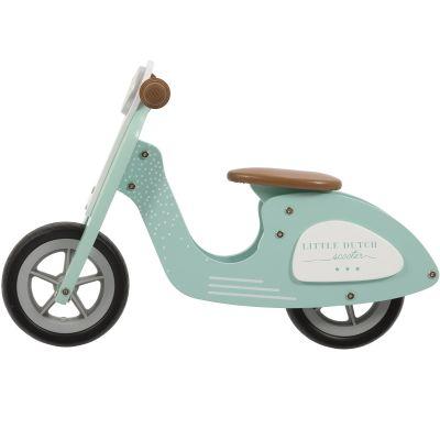Draisienne Scooter en bois vert d'eau Little Dutch