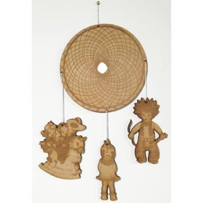 Mobile en bois Indiens  par Les Petits Vintage