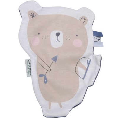 Doudou plat ours câlin Adventure blue  par Little Dutch
