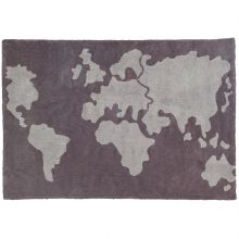 Tapis lavable Carte du monde (140 x 200 cm)  par Lorena Canals