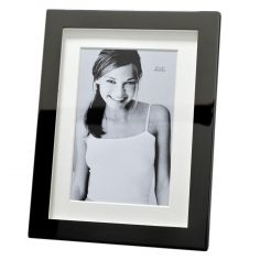 Cadre photo métal argenté chromé