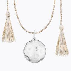 Bola sur cordon rose doré Moon Lune (plaqué argent)