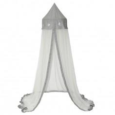 Ciel de lit Etoile blanc / gris (170 cm)