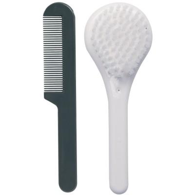 Set coiffure brosse et peigne blanc neige  par Luma Babycare