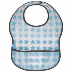 Bavoir à velcro plastifié Starlight bleu