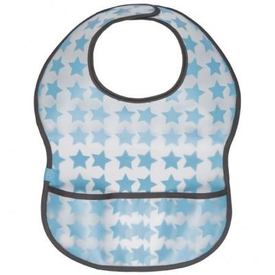 Bavoir à velcro plastifié Starlight bleu  par Lässig
