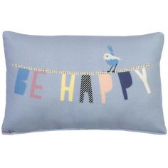 Mini coussin Be happy (30 x 20 cm)