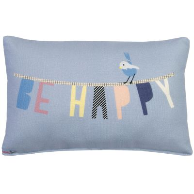Mini coussin Be happy (30 x 20 cm)  par Mimi'lou