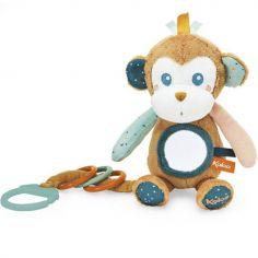 Peluche d'activités miroir à suspendre Sam le singe
