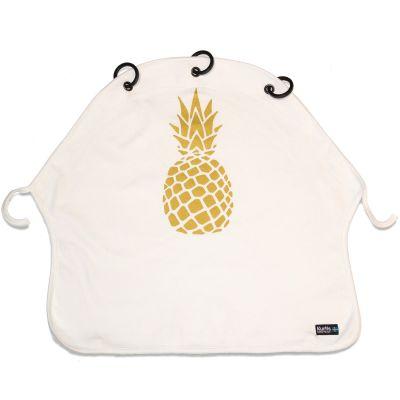 Protection pour poussette Baby Peace Ananas or et blanc en coton bio  par Kurtis