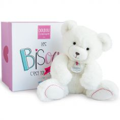 Peluche ours blanc (30 cm)