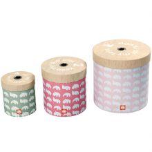 Lot de 3 boîtes de rangement rondes rose  par Done by Deer