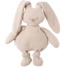 Peluche en tricot lapin beige Lapidou (36 cm)