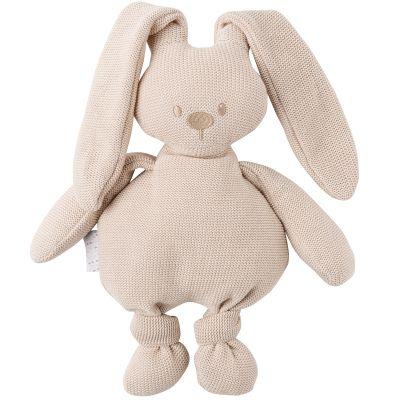 Peluche en tricot lapin beige Lapidou (36 cm)  par Nattou