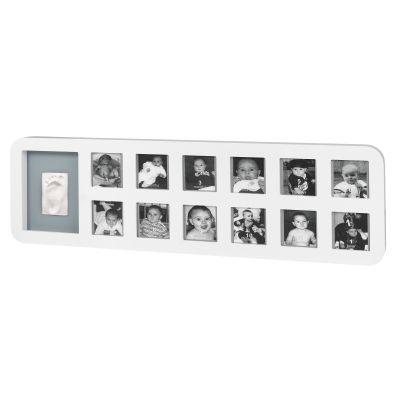 Cadre photo empreinte Modern 1st Year Print Frame blanc / gris