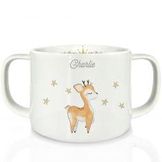 Tasse en porcelaine Renne (personnalisable)
