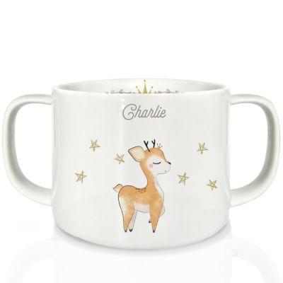 Tasse en porcelaine Renne (personnalisable)  par Gaëlle Duval