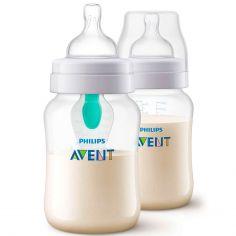 Lot de 2 biberons anti-colique avec valve airfree (260 ml)