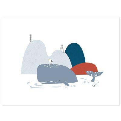 Affiche la baleine (30 x 40 cm)  par Lilipinso